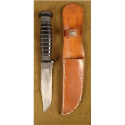 U.S. NAVY COMBAT FIGHTING KNIFE BY COLONIAL W/ SHEATH