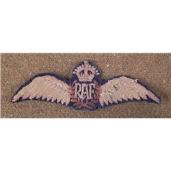 WWII ROYAL AIR FORCE--RAF UNIFORM WINGS