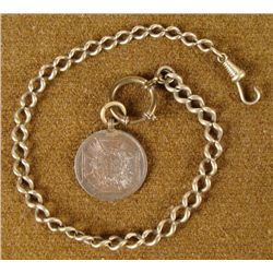 ORIG HINDENBURG MEDAL-IRON CROSS ON PERIOD WATCH CHAIN