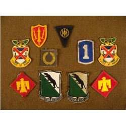10 WWII PATCH COLLECTION-REG, DIV, & INSIGNIA