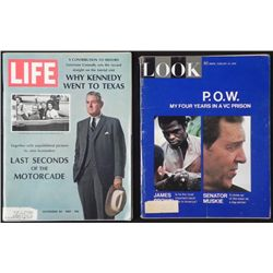 JFK FULL STORY ON ASSASINATION-LIFE, LOOK MAGAZINES