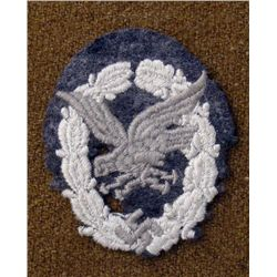 NAZI LUFTWAFFE AIR GUNNER ORIGINAL PATCH RARE