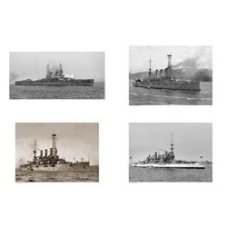 4 US Navy Military Battleships War Ships Art Prints