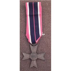 WWII NAZI WAR MERIT CROSS WITH FULL RIBBON ORIG/MALTESE