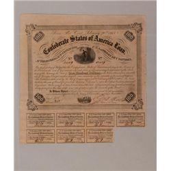 1863 One hundred dollar seven percent CSA loan certific