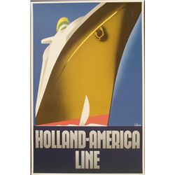 Willem Ten Broek Holland America Line Poster Art Print