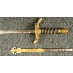 c1900 ODD FELLOWS/PATRIARCHS MILITANT SWORD NAMED