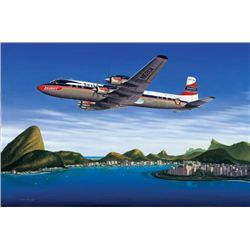 Seven Seas to Rio Mike Machant Aviation Art Signed
