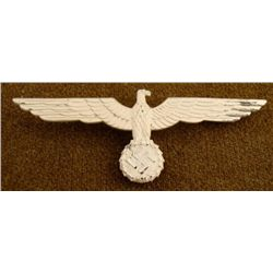 WEHRMACHT NAZI SUMMER TUNIC OFFICERS METAL BREAST EAGLE