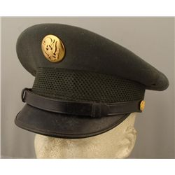 Early UN Enlisted Mans Hat Sz 7 1/8 Named