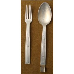 GERMAN WWII FIELD SPOON & FORK