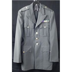 U.S. ARMY OFFICER'S TUNIC W/RIBBONS-SIZE 38L