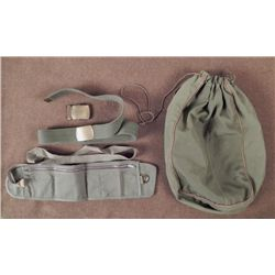 WWII U.S. GI'S LARGE DITTY BAG-OD MONEY BELT