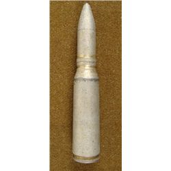 WWII ORDNANCE SHELL SILVER OVER BRASS