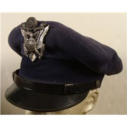 USAF Officer Cap Post WWII w/ Large Eagle Pin