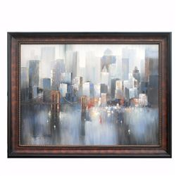 """CITYSCAPE - 2"" ORIGINAL OIL ON CANVAS"