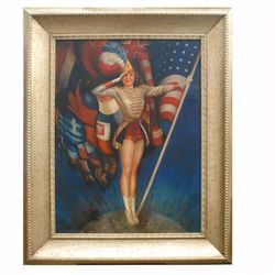 PATRIOTIC WOMEN  - ORIGINAL OIL ON CANVAS