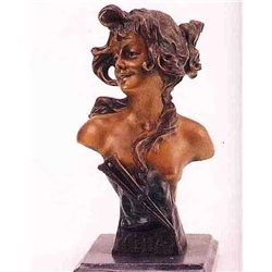 """Celia Bust"" Bronze Sculpture - Vallanis"