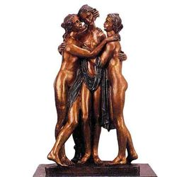 """Three Graces"" Bronze Sculpture - Torrione"