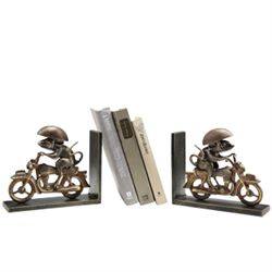 Mototcycle Mouse Bookends
