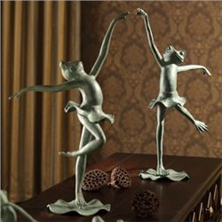 Ballet Frog Figurines - Pair