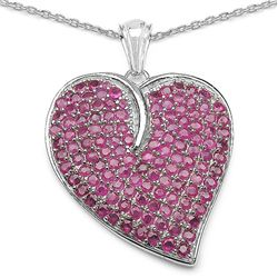 6.85 Carat Genuine Ruby .925 Sterling Silver Pendant
