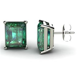 Genuine 3.60 ctw Emerald Earring 14k W/Y Gold