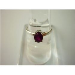 8.25 CTW RUBY RING .925 STERLING SILVER