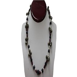 Natural 448.50ct Pearl,Sapphire,Ruby,Semi Precious Neck