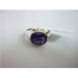 NATURAL 28.00 CTW  AMETHYST RING .925 STERLING SILVER