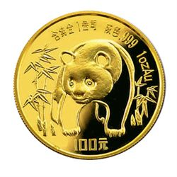 Chinese Gold Panda 1 Ounce 1986