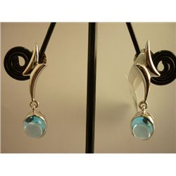 14.75 CTW BLUE TOPAZ EARRING .925 STERLING SILVER