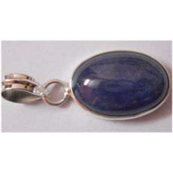 Natural 23.00 ctw Tanzanite Oval Pendnat 925 Sterling