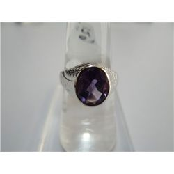 31.75 CTW AMETHYST RING .925 STERLING SILVER