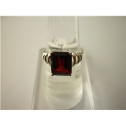 17.75 CTW GARNET RING .925 STERLING SILVER