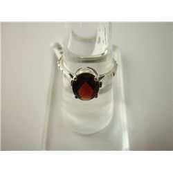 12.25 CTW GARNET RING .925 STERLING SILVER
