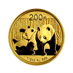 Chinese Gold Panda Half Ounce 2010