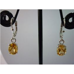 12.50 CTW CITRINE EARRING .925 STERLING SILVER