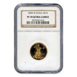 Certified Proof American Gold Eagle $10 2004-W PF70 NGC