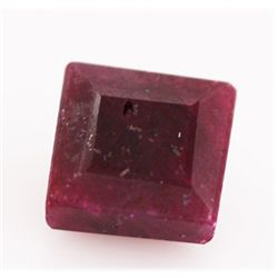 NATURAL 31.34 CTW AFRICAN RUBY SQUARE CUT