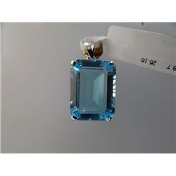 40.50 CTW BLUE TOPAZ PENDANT .925 STERLING SILVER