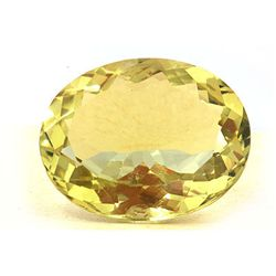Natural Lemon Topaz Oval Cut 20x28mm 1 pc 38.08 ctw
