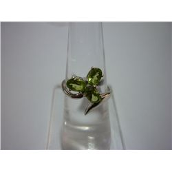15.50 CTW PERIDOT RING .925 STERLING SILVER
