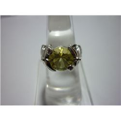 33.75 CTW LEMON TOPAZ RING .925 STERLING SILVER