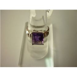 19.00 CTW AMETHYST RING .925 STERLING SILVER