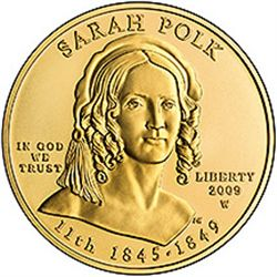 First Spouse 2009 Sarah Polk Uncirculated