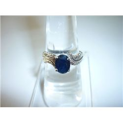 15.00 CTW SAPPHIRE RING .925 STERLING SILVER