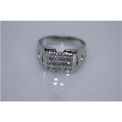 19.7 CTW CZ RING .925 STERLING SILVER