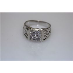 14.8 CTW CZ RING .925 STERLING SILVER