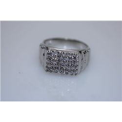 24.4 CTW CZ RING .925 STERLING SILVER